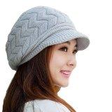 Jual Perempuan Jorok Memotong Bukaan Halus Merajut Beanie Merenda Iga His Hat Topi Musim Dingin Abu Abu Hangat Baru