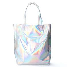Kualitas Perempuan Hologram Silver Belanja Casing Bahu Tas Jinjing Tas Perak Sinar Gamma Internasional Oem