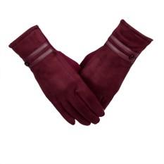 Toko Sarung Tangan Wanita Hangat Musim Dingin Pergelangan Tangan Sarung Tangan Sarung Tangan Merah Intl Terlengkap Tiongkok