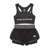 Review Wanita Gym Pakaian Yoga Dua Piece Bra Dengan Short Suit Fitness Workout Pakaian Suit Wanita Olahraga Yoga Memakai 1 Intl Oem