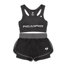 Toko Wanita Gym Pakaian Yoga Dua Piece Bra Dengan Short Suit Fitness Workout Pakaian Suit Wanita Olahraga Yoga Memakai 1 Intl Terlengkap Tiongkok