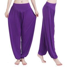 Harga Harem Wanita Yoga Celana Bloomers Tari Perut Nyaman Longgar Lebar Celana Oem Terbaik