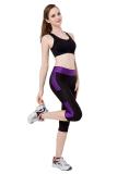 Beli Wanita Peregangan Ikat Tinggi Langsing Kurus Bang Pendek Kebugaran Yoga Sport The Sports Pants Kaki Hitam Ungu Internasional Murah Di Tiongkok