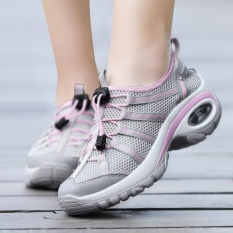 Harga Wanita Hiking Shoes Female Outdoor Mesh Bernapas Climbed Mt Memakai Berburu Athletic Trekking Bepergian Sepatu Non Slip Berjalan Sport Sepatu Abu Abu Dan Spesifikasinya