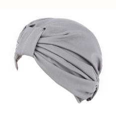 Women India Gilding Stretch Turban Hat Chemo Cap Hair Loss Head Scarf Wrap - intl