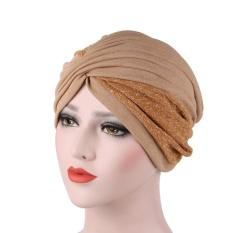 Women India Hat Muslim Ruffle Hat Beanie Scarf Turban Head Wrap Cap Intl Promo Beli 1 Gratis 1