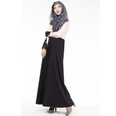 Wanita Kaftan Abaya Jilbab Islam Muslim Lengan Panjang Vintage Maxi Baju Hamil Dress
