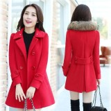 Harga Women Korean Style Wool Coats Jackets Long Sleeve Hooded Winter Jacket Warm Coat Intl Oem Tiongkok