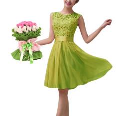 Miliki Segera Princess Tanpa Lengan Wanita Renda Pesta Pernikahan Gaun Formal