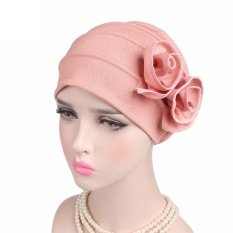 Wanita Ladies BoHo Kanker Hat Beanie Scarf Serban Kepala Membungkus Cap PK-Intl
