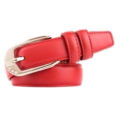Promo Ladies Fashion Wanita Kulit Pu Paduan Disesuaikan Gesper Pinggang Tali Sabuk Merah Di Tiongkok