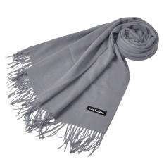 Beli Wanita Ladies Fashion Solid Warna Tabung Selendang Kering Bungkus Scarf Grey Intl