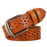 Jual Beli Wanita Ladies Hollow Adjustable Pu Kulit Alloy Gesper Pinggang Sabuk Tali Coklat Internasional