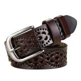 Toko Wanita Ladies Hollow Adjustable Pu Kulit Alloy Gesper Pinggang Sabuk Tali Cokelat Kehitaman Lengkap