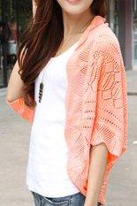 Women Ladies Knitted Crochet Slim Kimono Tops Hollow Coat Floral Cardigan Blouse Jacket - intl