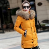 Jual Beli Online Wanita Wanita Langsing Hooded Down Empuk Long Musim Dingin Hangat Parka Outwear Jacket Coat