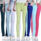 Spesifikasi Wanita Ladies Peregangan Pensil Celana Casual Slim Fit Cotton Jean Skinny Bottoming Trouser Danau Biru Intl Bagus