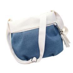Wanita Lady Denim Handbag Messenger HOBO Tas Bahu Dompet-Intl