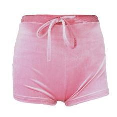 Untuk wanita pinggul lebih hangat untuk  musim dingin flanel celana pendek untuk wanita lembut elastis Clubwear tinggi pinggang celana piyama celana pendek kolor panas untuk tidur malam Club pesta untuk berolahraga rekreasi harian pake ukuran L berwarna m
