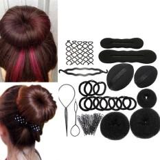 Harga Wanita Lady Girls Diy Hair Styling Pembuat Aksesoris Kit Set Rambut Braider Jepit Rambut Klip Rambut Bun Donut Insert Alat Kecantikan Merk Oem