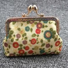 Wanita Wanita Vintage Jaman Dulu Bunga Kecil Dompet Pengait Dompet Dompet Tangan D-Intl