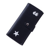 Spesifikasi Women Leather Card Holder Long Purse Wallet Clutch Handbag Black Intl Dan Harganya