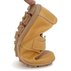 Harga Sepatu Kulit Wanita Warna Flat Slip Her At Loafers Kuning Gelap Baru