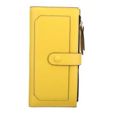 Ulasan Lengkap Tentang Wanita Kulit Zipper Koin Uang Kartu Kmerahit Panjang Dompet Kopling Dompet Casing Hot Kuning Intl
