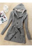 Jual Wanita Lengan Panjang Hoodie Coat Long Trench Sweater Cardigan Grey Intl Unbranded Di Indonesia