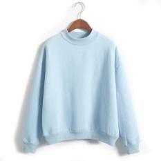 Wanita Lengan Panjang Jumper Pullover Tebal Hoodie (Ukuran: L)-Intl