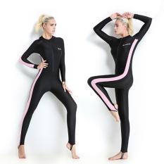 Harga Wanita Panjang Lengan Wetsuit Swimwear Pakaian Menyelam Spring Seluruh Badan Swimsuit Pink Intl Merk Oem