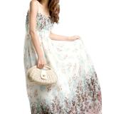 Harga Panas Musim Yang Panjang Dengan Rok Maxi Jersey Rayon Wanita Boho Hippie Gaun Pantai Ukuran Better Putih Termahal