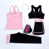 Toko Wanita Banyak 4 Athletic Yoga Olahraga Bra Tank Top Rompi Gym Fitness Yoga Kemeja Pants Bang Pendek Celana Terlengkap Tiongkok