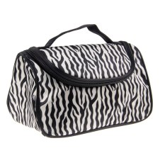 Diskon Wanita Makeup Kosmetik Case Toiletry Bag Travel Handbag Organizer Penyimpanan Pouch Hitam Putih Zebra Intl Akhir Tahun