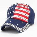 Beli Wanita Pria American Flag Baseball Cap Snapback Hip Hop Flat Hat Ny Intl Pakai Kartu Kredit