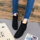 Jual Wanita Mid Heel Ankle Zipper Platform Sepatu Slope Martin Boots Bk 37 Intl Oem Branded