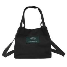 Toko Wanita Tas Tangan Mini Messenger Bags Canvas Single Shoulder Bag Bucket Clutch Hitam Intl Termurah