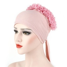 Women Muslim Flowers Hat Chemo Cap Hair Loss Head Scarf Wrap Hijib Cap PK - intl