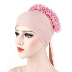 Wanita Muslim Bunga Hat Topi Kemo Rambut Rontok Syal Kepala Wrap N/A PK-Intl