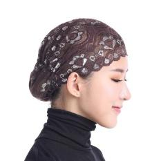 Toko Wanita Muslim Lace Kerchief Padat Warna Bernapas Headscarf Kopi Intl Di Tiongkok