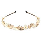 Toko Jual Wanita Fashion Baru Kepala Logam Paduan Pesona Perhiasan Aksesoris Rambut Bando Perhiasan Mutiara Kerajaan Gaya Barok Hadiah Daun Emas Putih Internasional