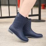 Harga Wanita Non Slip Hujan Bang Pendek Sepatu Kasual Martin Rain Boots Biru Online Tiongkok