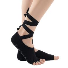 Harga Perempuan Non Slip Pembalut Kapas Diikat Toeless Yoga Pilates Olahraga The Sports Dansa Balet Kaus Kaki For Us 5 9 Hitam Di Tiongkok