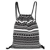 Harga Women Nylon Drawstring Sch**l Backpack Hitam Intl Oem Asli