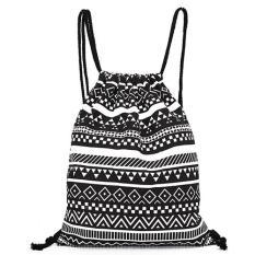 Harga Women Nylon Drawstring Sch**l Backpack Hitam Intl Yang Murah Dan Bagus