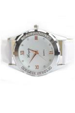 Cuci Gudang Wanita Ol Elegan Rhinestone Wrist Watch Putih Jam Tangan