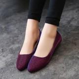Kualitas Wanita Ol Slip Her At Loafers Lepas Kilap Sepatu Flat Balet Penari Balet Warna Permen Internasional Oem