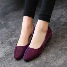 Model Wanita Ol Slip Her At Loafers Lepas Kilap Sepatu Flat Balet Penari Balet Warna Permen Internasional Terbaru