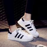 Ulasan Mengenai Wanita Originals Superstar Olahraga Running Shoes Fashion Korea Low Cut Bernapas Kasual Sepatu Putih Hitam Intl