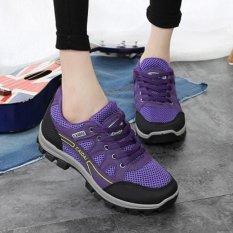 Wanita Rekreasi Outdoor Climbing Sepatu Bepergian Hiking Shoes Cahaya Antiskid Sepatu Running Sepatu Berjalan Sepatu Latihan Serbaguna Sepatu Olahraga Bulutangkis Sepatu-Ungu-Intl